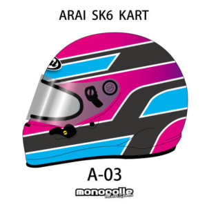 SEMI CUSTOM HELMET PAINT ARAI SK6 KART HELMET SET DESIGN A-03 ORDER ITEM 2-3MONTH