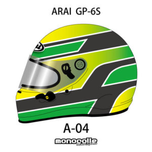 SEMI CUSTOM HELMET PAINT ARAI GP-6S HELMET SET DESIGN A-04 ORDER ITEM 2-3MONTH