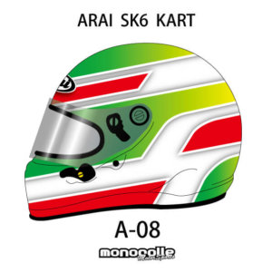 SEMI CUSTOM HELMET PAINT ARAI SK6 KART HELMET SET DESIGN A-08 ORDER ITEM 2-3MONTH