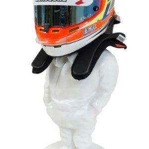 HELMET & HANS DISPLAY STAND RACING DRIVER character figure FRP (No paint)