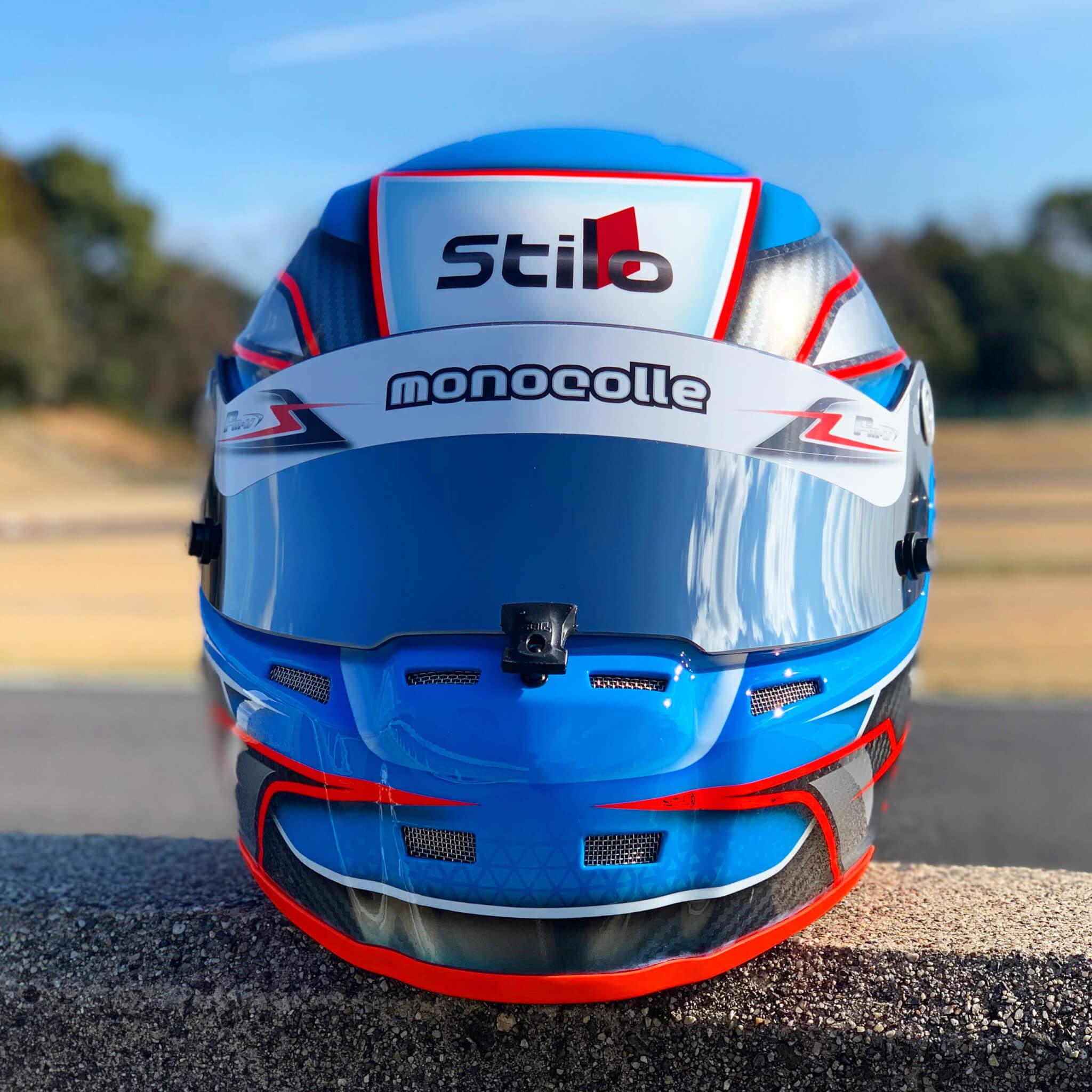 ヘルメット塗装 STILO CARBON