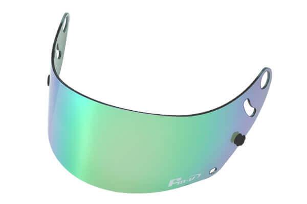 Fm-v Plus mirror coating visor GREEN LIGHT SMOKE for GP6 SK6