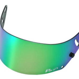 Fm-v Plus mirror coating visor GREEN SMOKE for GP6 SK6