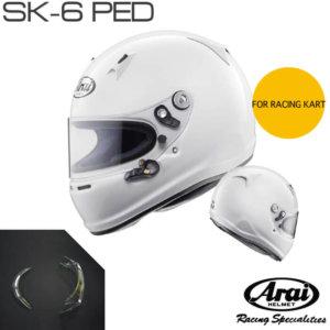 Arai SK-6 PED RACING KART HELMET SNELL K