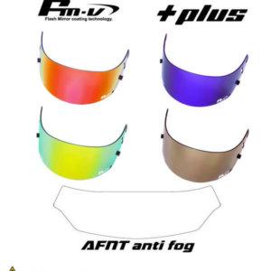 AFNT Anti Fog version Fm-v Plus mirror coating visor for CK-6S