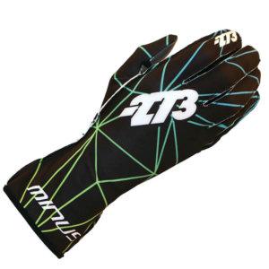 '-273 Poly BLACK/GREEN S KARTING GLOVE