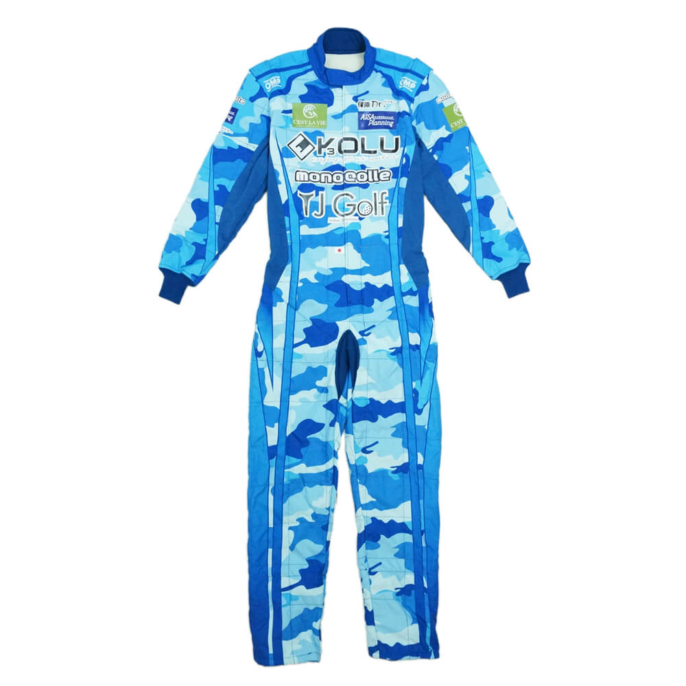 OMP ONE ART RACING SUITS FIA camouflage blue