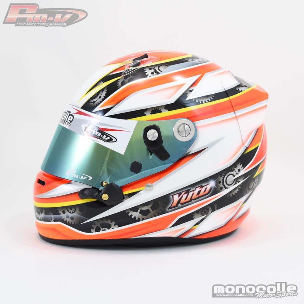 ヘルメットペイント レーシングカート
