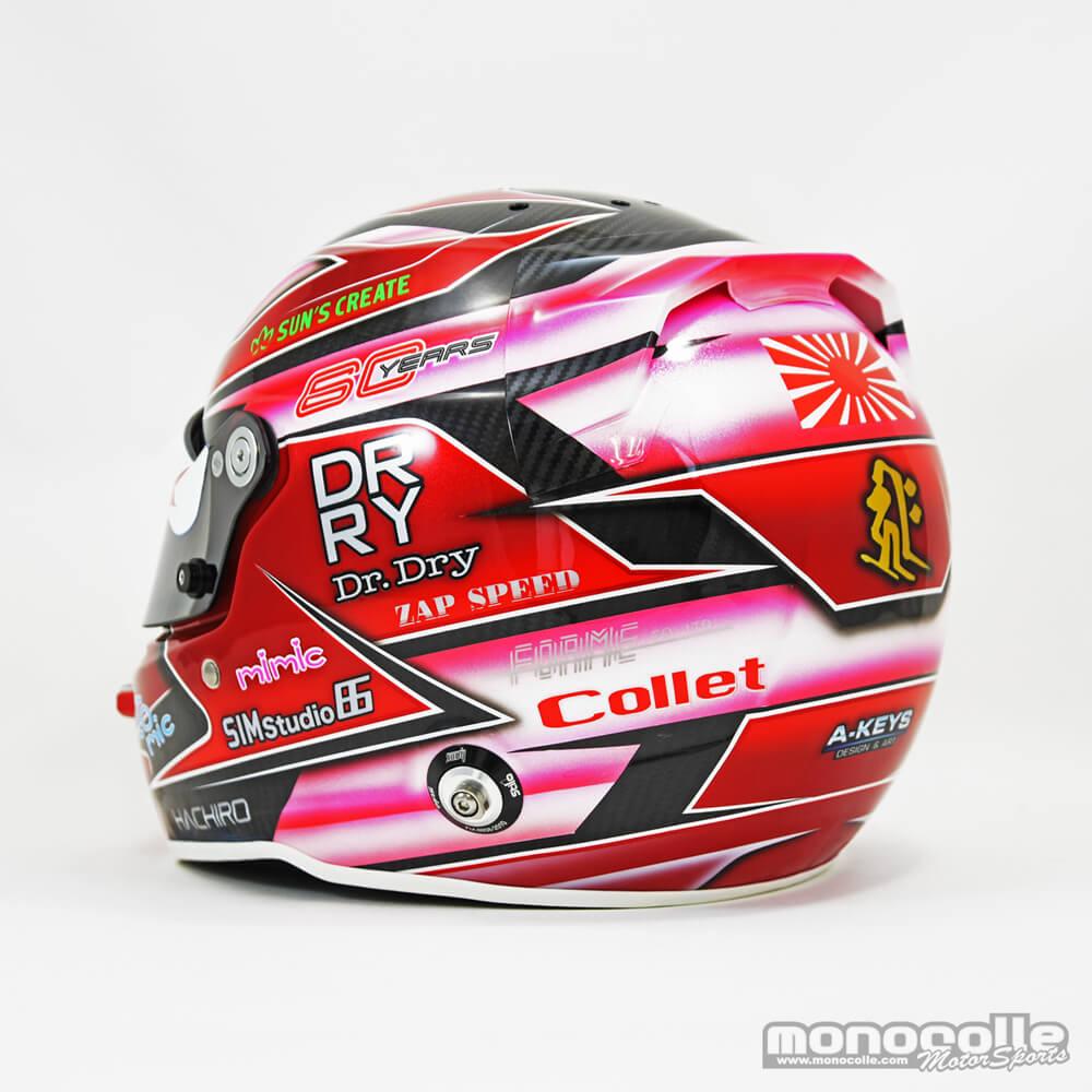 ヘルメット塗装 レース用